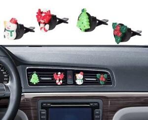 Image Is Loading Bling Car Accessories Cute Christmas Tree Snowman