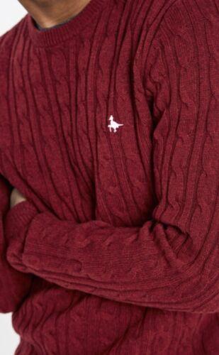 per girocollo Maglione Nuovo maniche Wills Rosso a uomo Jack piccolo lunghe rFpqpxdI