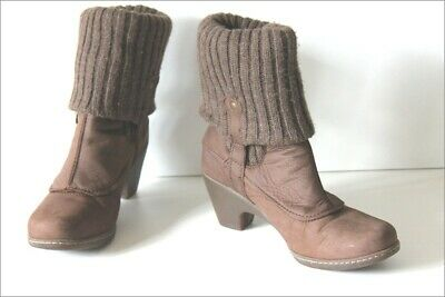 bottines laine et cuir