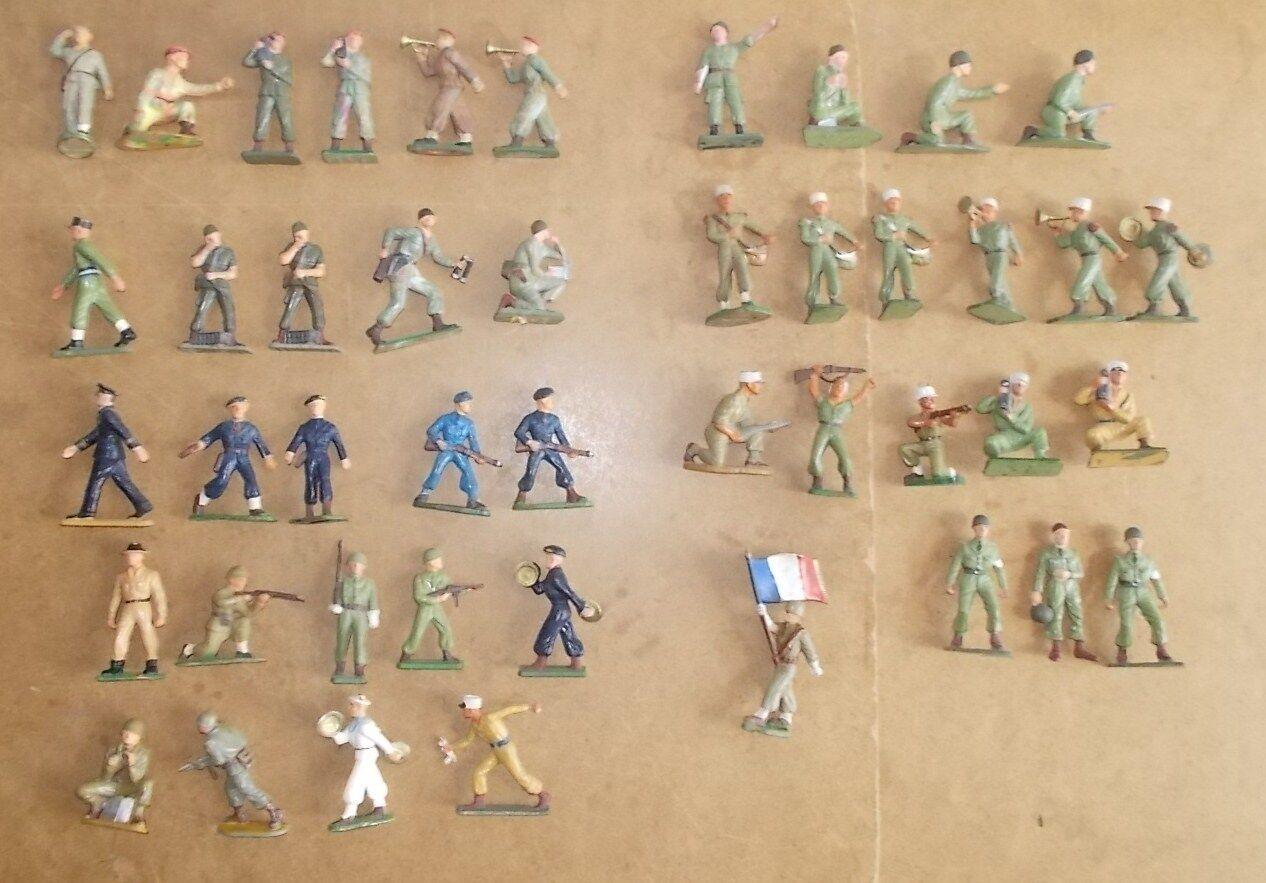 44 anciennes figurines STARLUX 60s militaires armées modernes - TBE pas de casse