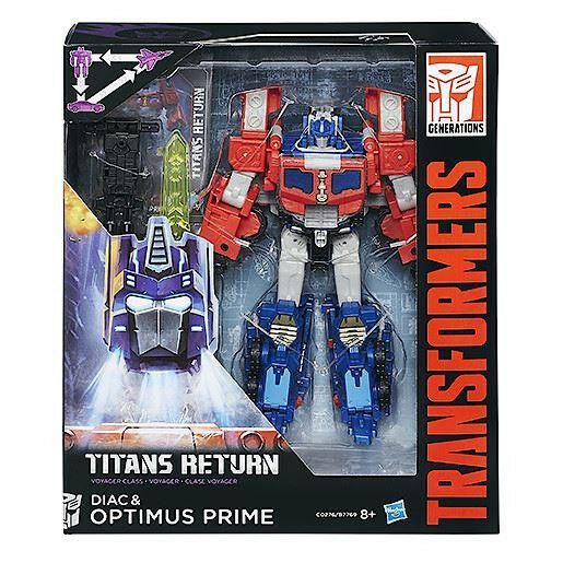 TRANSFORMERS DIAC & OPTIMUS PRIME TITANS RETURN GENERATIONS NUOVO HASBRO C0276