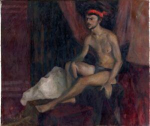 """Russischer Realist Expressionist Öl Leinwand """"Akt"""" 70 x 60 cm"""