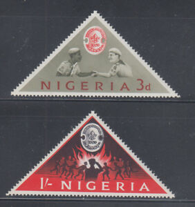 Nigeria-1963-Boy-Scouts-Sc-145-146-complete-mint-never-hinged