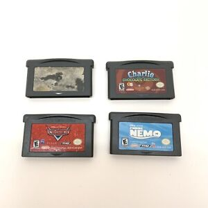 Lot of 4 Nintendo Game Boy Advance GBA Games Lego Star Wars II Cars Finding Nemo
