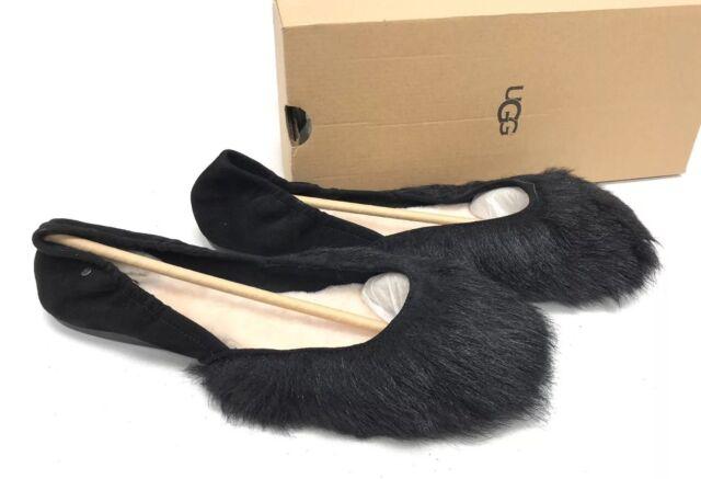 ff423ad0b78 UGG Black Jeanie Fluff Toscana Sheepskin Ballet Flats Women US 9/ EUR 40
