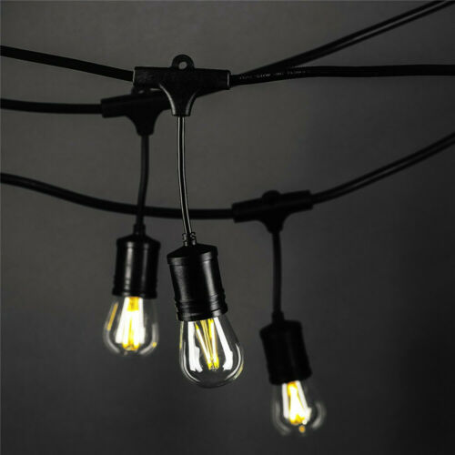 1//2 PK 48FT LED Outdoor Waterproof Commercial Grade Patio String Light W//O bulbs