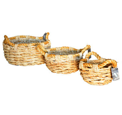 Bereidwillig Chunky Round Banana Leaf Braided Baskets Storage Logs Toys Laundry 3 Sizes