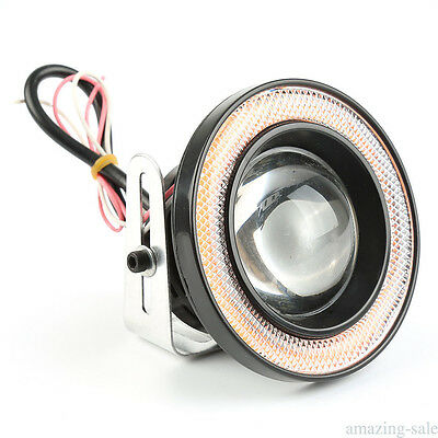 "3.5"" COB LED Car Fog Driving Light Projector Red Angel Eye Halo Ring DRL Bulb"