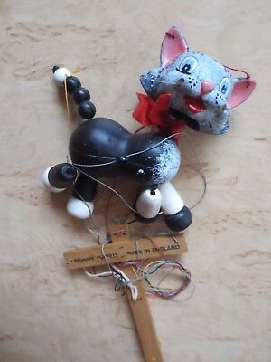 +++ Pelham Puppets Gatto-cat +++ Made In England-mostra Il Titolo Originale