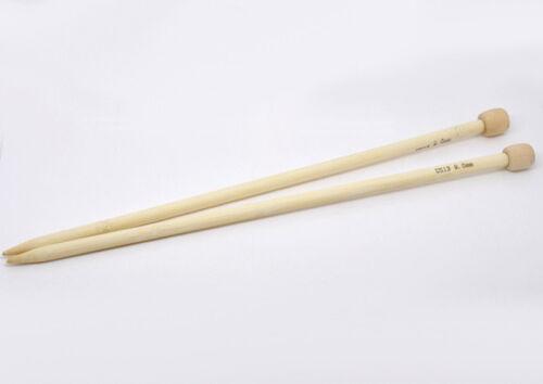 15 Tailles US Taille 0-15 bambou unique pointu Aiguilles à tricoter 34 CM long 1 paire