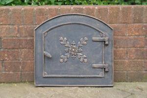 48 x 38 cm cast iron fire door clay bread oven doors pizza stove fireplace