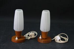 Set-2-X-Old-Bedside-Table-Lamp-Light-E14-Old-Vintage