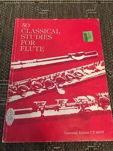 50 Classical Studies For Flute Universal Edition Ue 14672 Ed. By Frans Vester