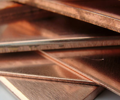 200 x 200 mm - Genuine Copper Sheet / Plate  0.9 1.2 1.5 2.0 2.5 & 3.0 mm Thick