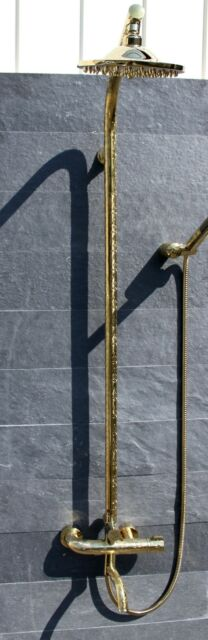 Carving Premium Spezial Shower Gold Luxus Duschbrause Armatur edel Regendusche