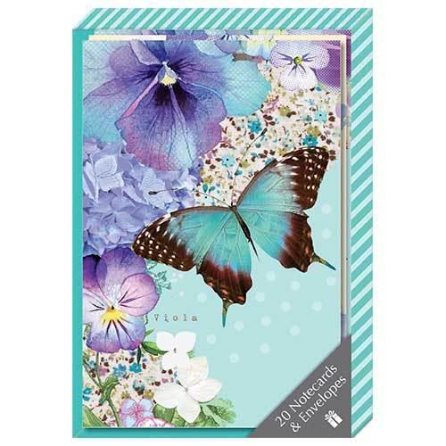 Polka Dot Viola Notecard Collection Box