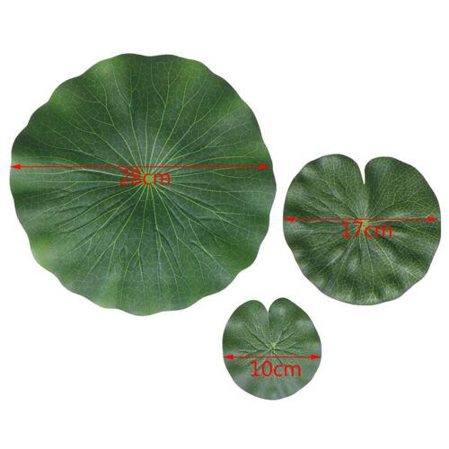Pack Of 9 Artificial Floating Foam Lotus Leaves Water Lily Pads Ornaments GrL!Y