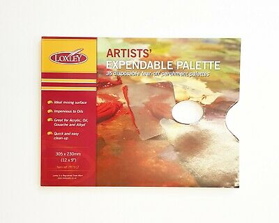 Acrylic 9 x12 or 12x16 Reeves Artists Tear Off Disposable Palette for Oil
