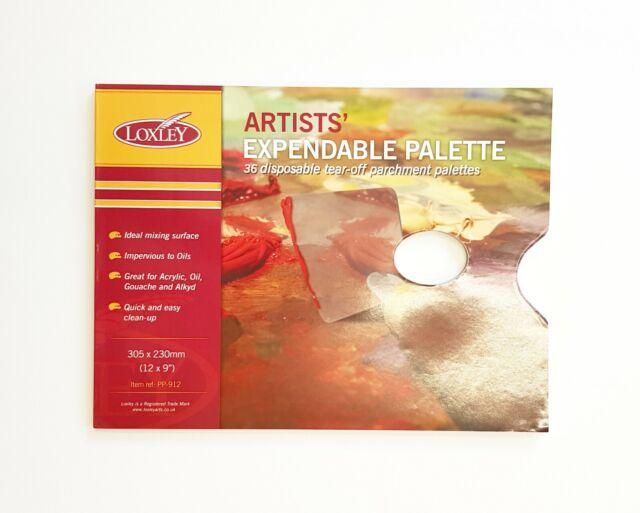35 Hojas de Papel de Paleta para Pintar Suministros para Artistas Germerse Almohadilla de Papel de Paleta desechable Suave