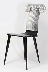 MCM Piero Fornasetti (1913-1988) Capitello Jonico Modern Era Molded Wood Chair