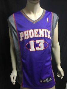 size 40 46f94 5ee9c Details about NBA Phoenix Suns Steve Nash #13 HOF Authentic Jersey Reebok  50 NWT New