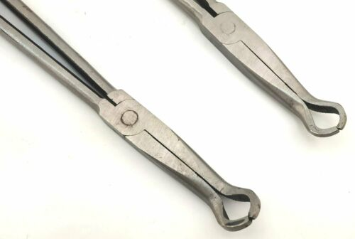 """11/"""" 280mm 16/""""//400mm Long nose pliers straight bent head round tip Holding"""