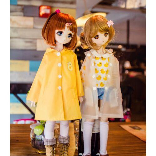 PF Clear//Yellow RainCoat For 1//3 1//4 1//6 SD DZ AOD BJD Dolls Dollfie Outfits