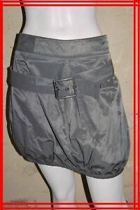 COP-COPINE-Taille-40-Superbe-jupe-boule-gris-taupe-coton-melange-modele-ASHLEY