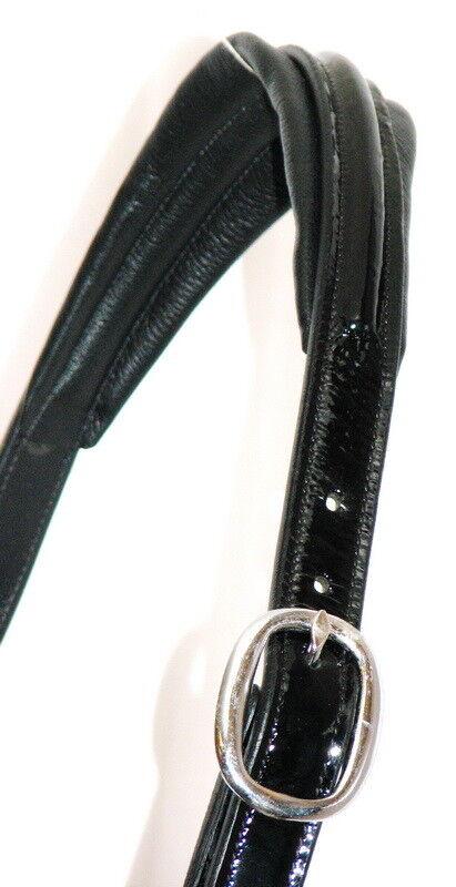 FSS GLISTEN PATENT GLOSS CRYSTAL HEADCOLLAR BLING German Comfort POSH HALTER HEADCOLLAR CRYSTAL NEW 6c9098