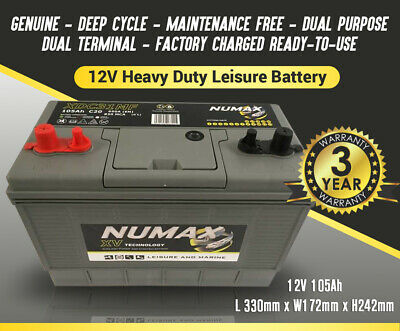 4 x 90AH 80 85 90 ah 12 volt LEISURE Auxiliary BATTERY battery BRANDED