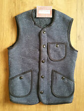 Levi's Made & Crafted Blue Indigo Fur Travelers Waistcoat Vest S RRP £159 New