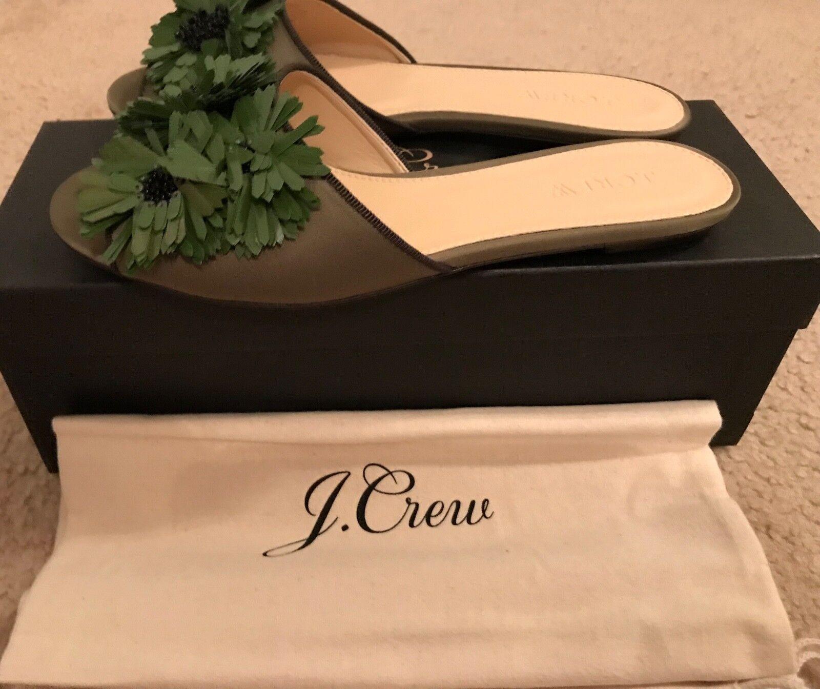 J.Crew Satin Rutschen mit Floral Olive Verzierungen GRÖSSE 6m Tuscan Olive Floral G8895 bb751f