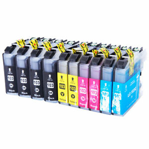 10PK LC103 XL Compatible Ink Cartridge For Brother MFC-J470DW J6920DW J245