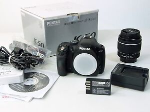 Pentax-K-K-50-16-0-MP-SLR-Digitalkamera-Kit-m-smc-DAL-18-55mm-WR