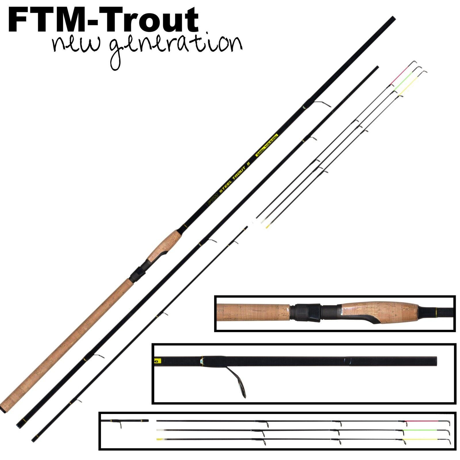 FTM Forellenrute, Steel Trout 2 3,60m 6-25g - Forellenrute, FTM Sbirolinorute, Forellenangel b0279f