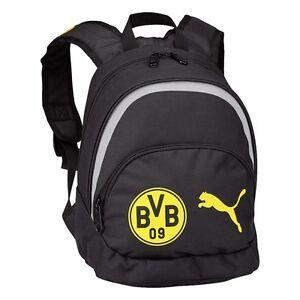 9798b00f101a3 Das Bild wird geladen Puma-BVB-Borussia-Dortmund-kleiner-Kinder-Rucksack -schwarz-