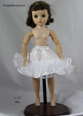 "18"" doll or Miss Revlon *more Colors* 17 5 1//2"" White petticoat slip for 16"