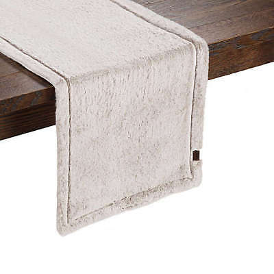 Details About Ugg Clic Polar Table Runner 14x54 Brown Faux Fur