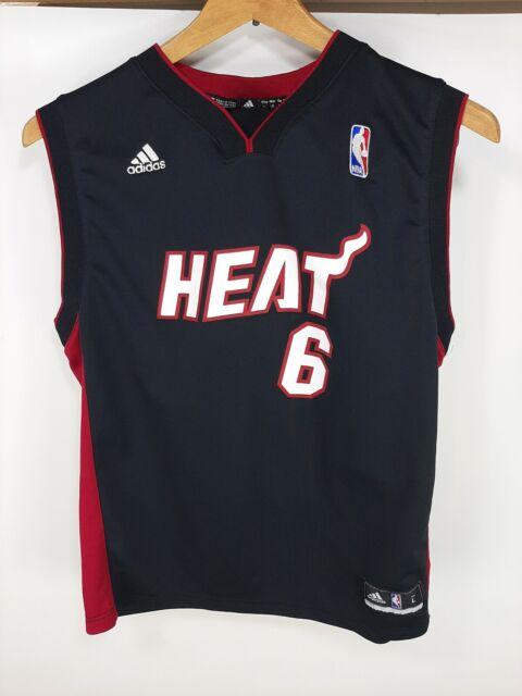 adidas #6 Lebron James Youth Miami Heat