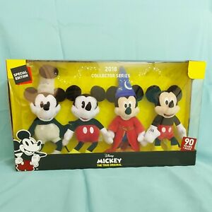 Disney-Plush-8-034-Mickey-Mouse-Collector-039-s-Set-of-4-2018-90-Years-of-Magic
