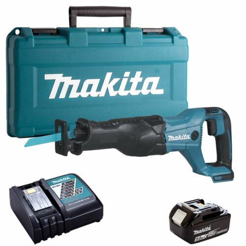 Makita DJR186Z 18 V LXT scie alternative avec 1 x 5.0Ah BL1850 Batterie /& Chargeur