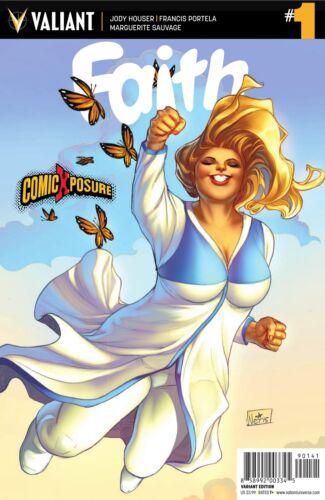 OF 4 COMICXPOSURE EXCLUSIVE NEI RUFFINO VARIANT COVER VALIANT COMICS FAITH #1