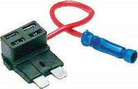 (1) 16 Gauge Atc Ato Blade Add A Fuse Tap Circuit Block Panel Plug Holder Wire