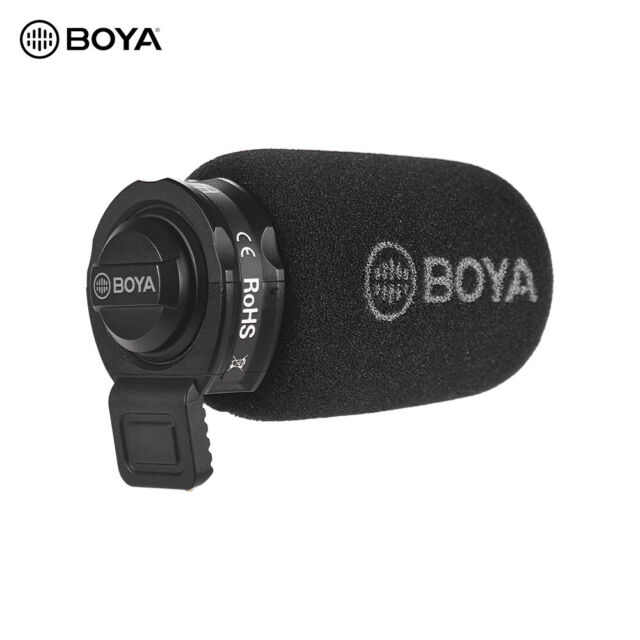 BOYA Mini Condenser Microphone Omni-directional Mic for iOS & Android 3.5mm C3S0