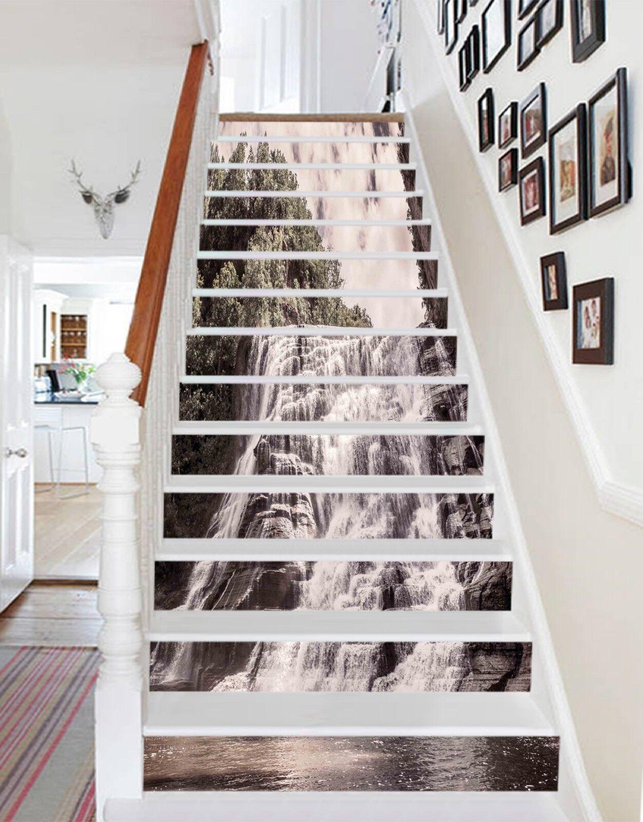 3D Wasserfall 2120 Stair Risers Dekoration Fototapete Vinyl Aufkleber Aufkleber Aufkleber Tapete DE addbfc