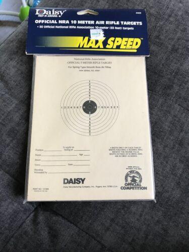 Vintage Daisy officielles NRA 5-meter Pédalier pistolet cibles 6.75x5.38 50 ct GW8