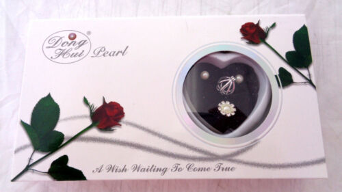 Pearl Set Necklace Ring Earrings Love Wish Pearl Kit Chain Kit Pendant Gift Box