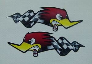 2er-S-Sticker-Aufkleber-Oldschool-Auto-Retro-Autoaufkleber-Motorrad-Rockabilly