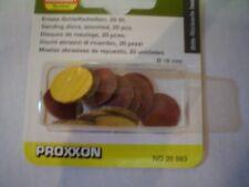 Proxxon 28983 Ersatzschleifscheiben Schleifscheibenblätter 18 mm 20 Stk