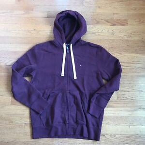 64285db541508 Image is loading Tommy-Hilfiger-Fleece-Full-Zip-Hooded-Sweatshirt-New-